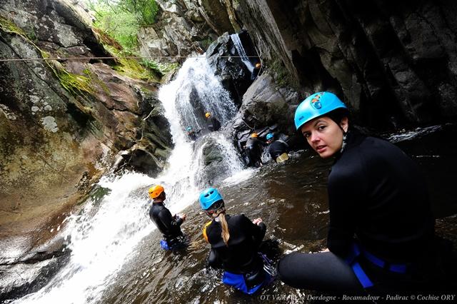 Aquarando dans les cascades