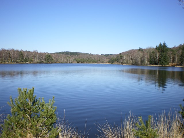 Vue depuis la digue du Lac de Miel